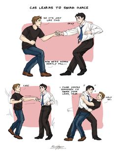Cas Learns to Swing Dance by Countess-Chocula.deviantart.com on @deviantART. This. Is. Flawless.