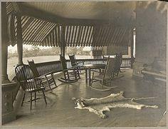 The Sunday porch/enclos*ure: Theo. Roosevelt porch, ca. 1905, via Library of Congress.