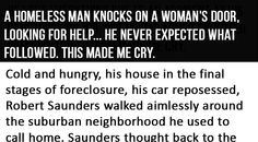 He lost everything due to an accident at his construction job. Such a sad tale. It really touched me for some reason.... Oh well.