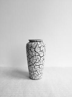 JASBA VASE, Cortina, Schrumpflasur, Lava , 50er Jahre, German Pottery, Craquele von moovi auf Etsy