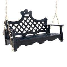 Delight in the sculpted silhouette of our Luciana outdoor swing only find it here. Elegant curves, a trellis seat back, and a    selection of trend-setting colors will add the perfect measure of style to your favorite outdoor setting. Meanwhile, the sturdy blend of all-weather    hardwoods and a deep slatted seat provide extra tranquility.            Uncommon outdoor swing with a signature silhouette                Crafted from durable, all-weather hardwoods                Hand-applied ur...