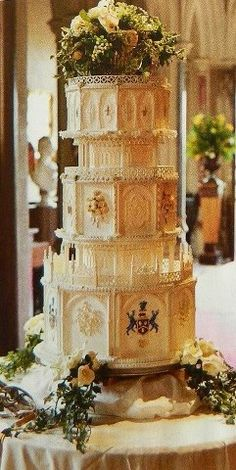 Lady Mary's wedding cake from Downton Abbey ....Looks like a cross over between Harry Potter and Downton Abbey!!!!