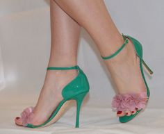 Rupert Sanderson Fur Trimmed Leather Sandals clearance from china 9Yp4b
