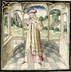 Cartonnier, Grenoble, Dame, Miniatures, Painting, 15th Century, Anonymous, Kleding, Painting Art