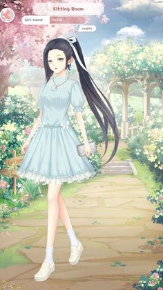 Dress Up Diary, Girl Outfits, Cute Outfits, Hair Sketch, Anime Girls, Anime Art, Girl Fashion, Pretty, Clothes