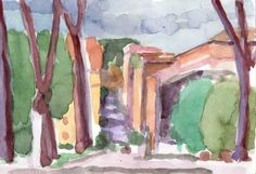 Anthony Lombardi  Colle Oppio 02 Roma  watercolour on paper 2014 18 x 12,5 cm