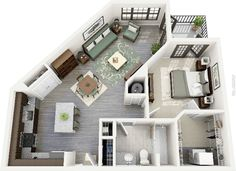 20 One Bedroom Apartment Plans for Singles and Couples. 20 One Bedroom Apartment Plans for Singles and Couples Studio Apartment Floor Plans, Studio Apartment Layout, Apartment Plans, Apartment Design, Apartment Ideas, Studio Layout, Studio Floor Plans, Furnished Apartment, Layouts Casa