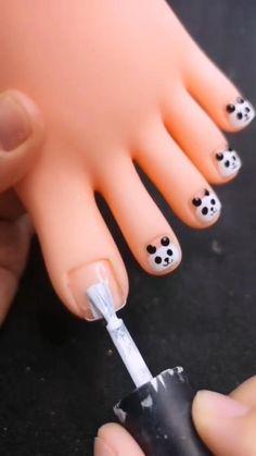 Panda Nail Art, Toe Nail Art, Toe Nails, Baby Nail Art, Baby Nails, Pink Nails, Trendy Nail Art, Stylish Nails, Nail Art Hacks