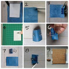 Stifthalter aus Lederresten selbermachen, DIY, upcycling