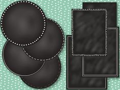 Chalkboard frames and buttons