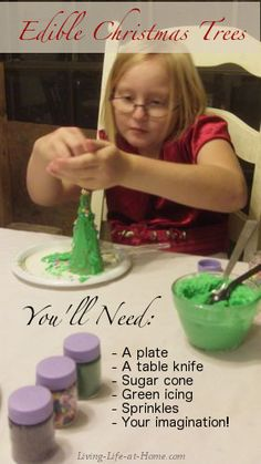 Edible Christmas Trees - A Fun and Easy Christmas Craft Kids Love. Yum!