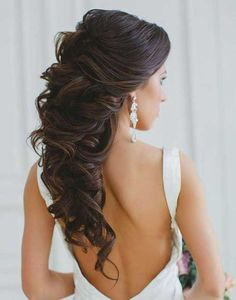 Half Down Half Up Hair Updo Hairstyles Hair Hair Styles Hairstyles Wedding Hair Down, Wedding Hairstyles For Long Hair, Elegant Hairstyles, Wedding Hair And Makeup, Bride Hairstyles, Down Hairstyles, Hairstyle Ideas, Hairdos, Bridal Party Hairstyles