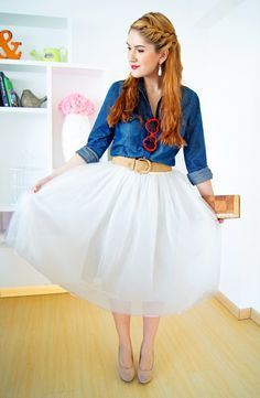 #fashion #fashionista Marie jeans bianco The Joy of Fashion: Tulle skirts and little girl dreams