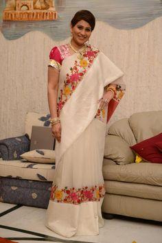 Gaurang Organza Kutch embroidery