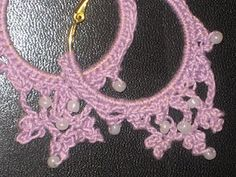 Cynthia's Cynfully Spiffy Stuff: New Free Pattern: Lacy, Beaded Hoop Earrings