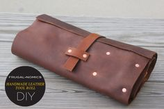 Handmade Leather Tool Roll 7