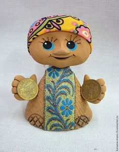 """Сувениры ручной работы. Ярмарка Мастеров - ручная работа. Купить """"Богатея"""" Кукла-оберег. Handmade. Оберег для дома, тесьма жаккардовая"""