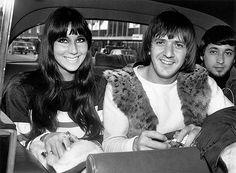 August 1965: American singers Cher (Cherylynn LaPiere, Cherilyn Sarkisian) and Sonny Bono (Salvatore Bono) (1935 - 1998) on a visit to London. Photo: Dove/ Getty Images 2011
