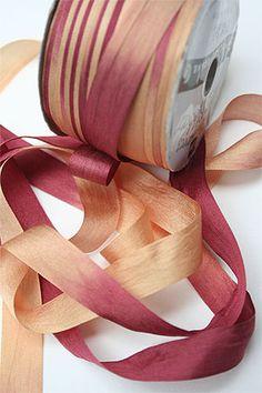 Silk Ribbon knitting yarn in Pumpkin Cheesecake
