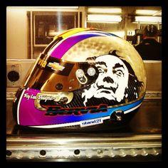 Oriol Servia's Helmet #IndyCar