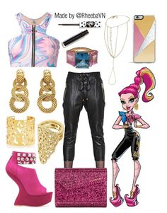 """""""Gigi Grant (Monster High)"""" by rheebavn ❤ liked on Polyvore featuring Alexandre Vauthier, Forever 21, Jimmy Choo, Chanel, UNIF, Kate Spade, BCBGMAXAZRIA, Miss Selfridge and Lime Crime"""