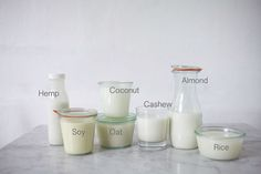 Which non-dairy milks are better bought, and which are easier to make yourself.  Steps to do so. Taste tests. Reaction to hot drinks. Suggestions on using byproducts.