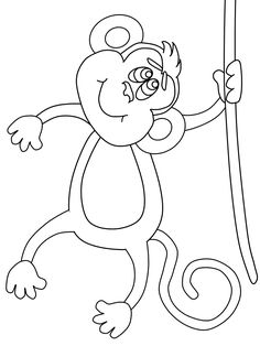 Kids Free Word Search Puzzles Coloring Pages And Other Activities See More Monkey Template