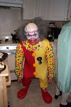 crown jewel of Coulrophobia! Having a panic attack just looking at this. Notice the blue ribbon!!