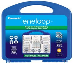 "Panasonic K-KJ17MC124A eneloop Super Power Pack, NEW 2100 Cycle, 12AA, 4AAA, 2 ""C"" Spacers, 2 ""D"" Spacers, ""Advanced"" Individual Battery Charger by Eneloop http://www.amazon.com/gp/product/B00JHKSLLY?ie=UTF8&camp=1789&creativeASIN=B00JHKSLLY&linkCode=xm2&tag=facetatyherlp-20"