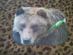 White borders trimmed from some of my older mouse pads ... and prices reduced to $5.00!  These are a one time creation and one time price!  Mouse Pad  Bear small by WildlandCreations on Etsy
