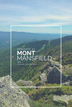 Une randonnée au Mont Mansfield, Vermont (États-Unis).