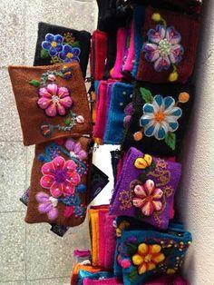 Peruvian bag ayacuchano embroidery. Peru 84b1248dd43