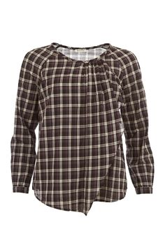 Checked Frill Cotton #Top WOWWTOA40058 £144.00  Checks are a big trend for this Autumn Winter and this simple cotton top from Spanish brand #Masscob showcases it perfectly. Simply cut the ruffle detail running down the front adds interest and a femine touch.