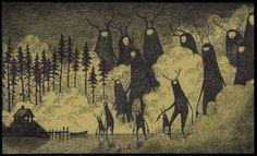 http://www.tickld.com/x/31-horrifying-monster-drawn-entirely-on-post-its  Miun pikku-otukset olikin isoiksi kasvaneina jo tän tyypin kuvissa. :D