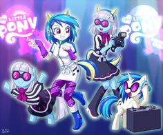 Equestria Girls Vinyl Scratch and Photo Finish by uotapo on DeviantArt