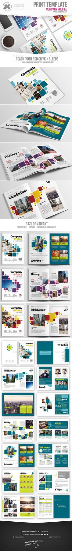 Company Profile Brochure Template InDesign INDD. Download here: https://graphicriver.net/item/company-profile/17354491?ref=ksioks