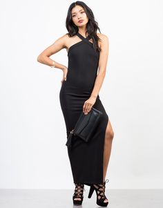 Dinner date? Let this black X-Factor Maxi Dress do the talking.  Pair this dress with some strappy heels for a elegant and classic look.