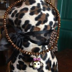 BetseyJohnson fun necklace Love this short, fun Betsey Johnson rhinestoned monkey necklace. Super cute with jeans and a tank top for a fun hip look! Goldfish colored Swarovski crystals around the chain Betsey Johnson Jewelry Necklaces