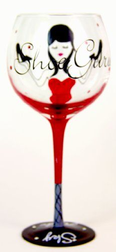 Wine Glasses Hand Painted Stilettos Wine Glass, Holds 18 Oz -fashionista's Gift ! Red
