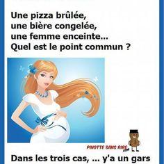 Une #pizza brûlée , une #bière congelée , une #femme #enceinte , quel est le point #commun ? dans les #trois cas, y'a un #gars qui ne l'a pas #sortie à #temps !!! . . . #rire #blague #gag #drole #drôle #blagues #rigolade #citation #mdr #lol #proverbe #citations #proverbes #paris #france #facebook #youtube #instagram #twitter