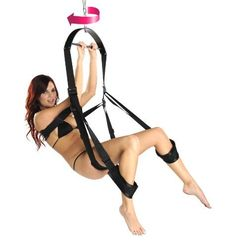 360 Degree Spinning Sex Swing by Trinity Vibes. $62.95. Swing into action with The Trinity 360 Spinning Sex Swing. The variety of positions that can be enjoyed with this swing will definitely help spice up your love life, and now it spins to add even more possibilities for action! The swing has padded supports for your back, butt/thighs, and feet/calves. The swing also has a torque bar for added support for your wild love making sessions. Extra-wide nylon straps wi...
