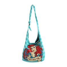 Disney The Little Mermaid Kiss The Girl Hobo Bag | Hot Topic ($13) ❤ liked on Polyvore