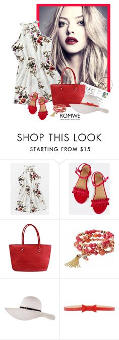 """""""Romwe Floral Romper"""" by lorrainekeenan ❤ liked on Polyvore featuring Black and Blugirl Folies"""