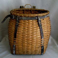 Large Antique Adirondack Pack Basket c.1900 - from Stone House Antiques Shop on Ruby Lane