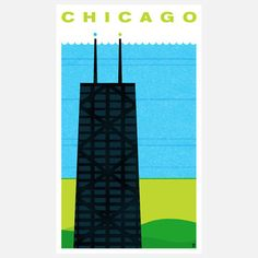 Chicago Print 16x24 now featured on Fab.