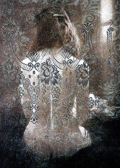 Behind lace curtains5 x 7 digital photo fusion by ImagineStudio, $22.00