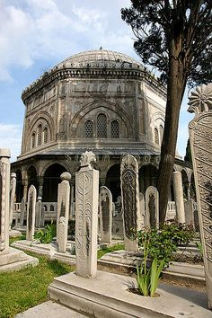 OTTOMAN EMPIRE. Tomb of Suleiman the Magnificent in Istanbul, 1500s.