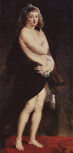 Peter Paul Rubens Helene Fourment in a Fur Robe, Kunsthistorisches Museum Vienna Peter Paul Rubens, Rembrandt, Baroque Painting, Baroque Art, William Adolphe Bouguereau, Pedro Pablo Rubens, Rubens Paintings, Portrait Paintings, Oil Paintings