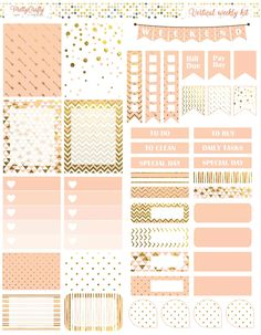 Peach and gold weekly spread https://www.etsy.com/ie/shop/PrettyCraftyStickers?ref=hdr_shop_menu