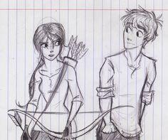 Katniss and Peeta Doodle by knuFaD-zzaJ